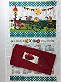 Finds and Furnishings 2018 Enjoy The Ride Kitchen Dish Towel Calendar & Kitchen Drying Mat Bundle Kitchen Linen Calendar Towel and Kitchen Dish Drying Mat 3 Piece Bundle