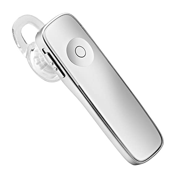 SMFR bluetooth earphone mini Music Noise Canceling headset handsfree calling headphone wireless auriculares (White)
