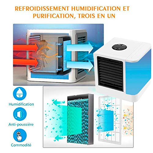 m·kvfa USB Mini Portable Air Conditioner Humidifier Air Cooler Upgraded Mute Practical for Bedroom Mobile Convenience Home Small Appliance (Water Tank Capacity: 375ml)