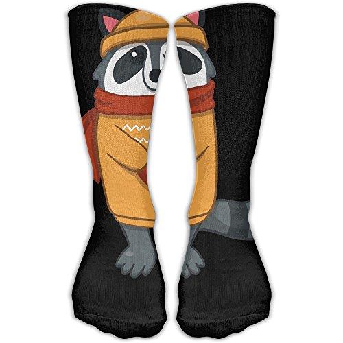 Cartoon Raccoon Women & Men Socks Soccer Sport Tube Stockings Length 30cm -