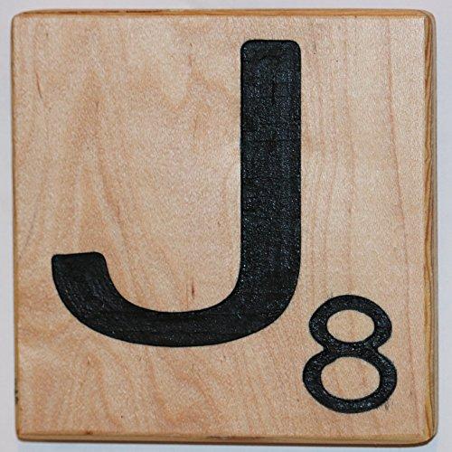 Large Scrabble Letter Tile (8 x 8, J)