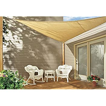 Charmant Sol Maya Triangle Patio Sun Shade Sail   Sand Color Available In Multiple  Sizes (16.5