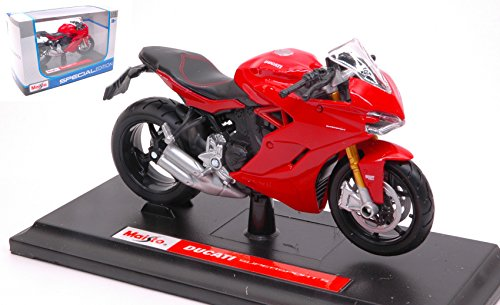 Die Cast DUCATI SUPERSPORT S 2017 RED 1:18 Maisto Moto Modellino