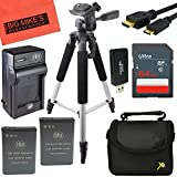 Pro Accessory Kit for Nikon Coolpix B700, P600, P610, S810c Digital Camera - Includes 2 ENEL23 Batteries + Battery Charger + 64GB SD Memory card + 58'' Tripod + Deluxe Carrying Case + More!!