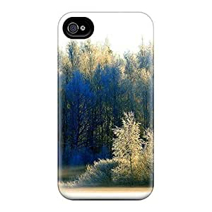 New Style Tpu 4/4s Protective Case Cover/ Iphone Case - Snowy Morning