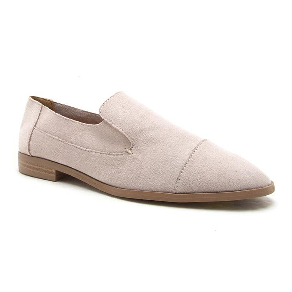 Women's Slip-On Loafer Closed Pointed Toe Driving Smoking Shoe Ballet Flats Oatmeal 6