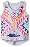 Kensie Girls' Knit Tank with Aztec Sequin Trim