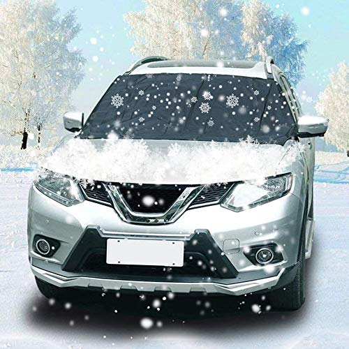 Ic Cover - IC ICLOVER Magnetic Windshield Cover, Snow Cover Ice Removal Screen Windproof Frost Guard Wiper Visor Protector Sun Shade with 6 Powerful Magnets, Large Size for Any Automobile SUV Truck Van
