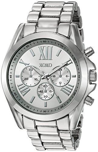 XOXO Womens Quartz Stainless Steel and Alloy Casual Watch, Color:Silver-Toned (Model: XO5842)