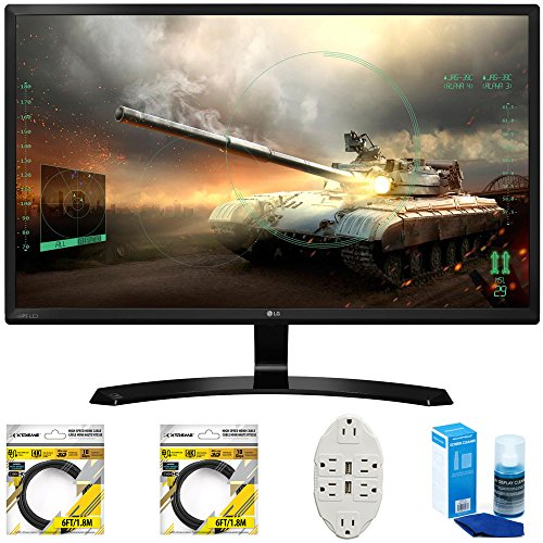 "LG 27"" Full HD IPS Dual HDMI Gaming Monitor  with 2x 6ft Hig"