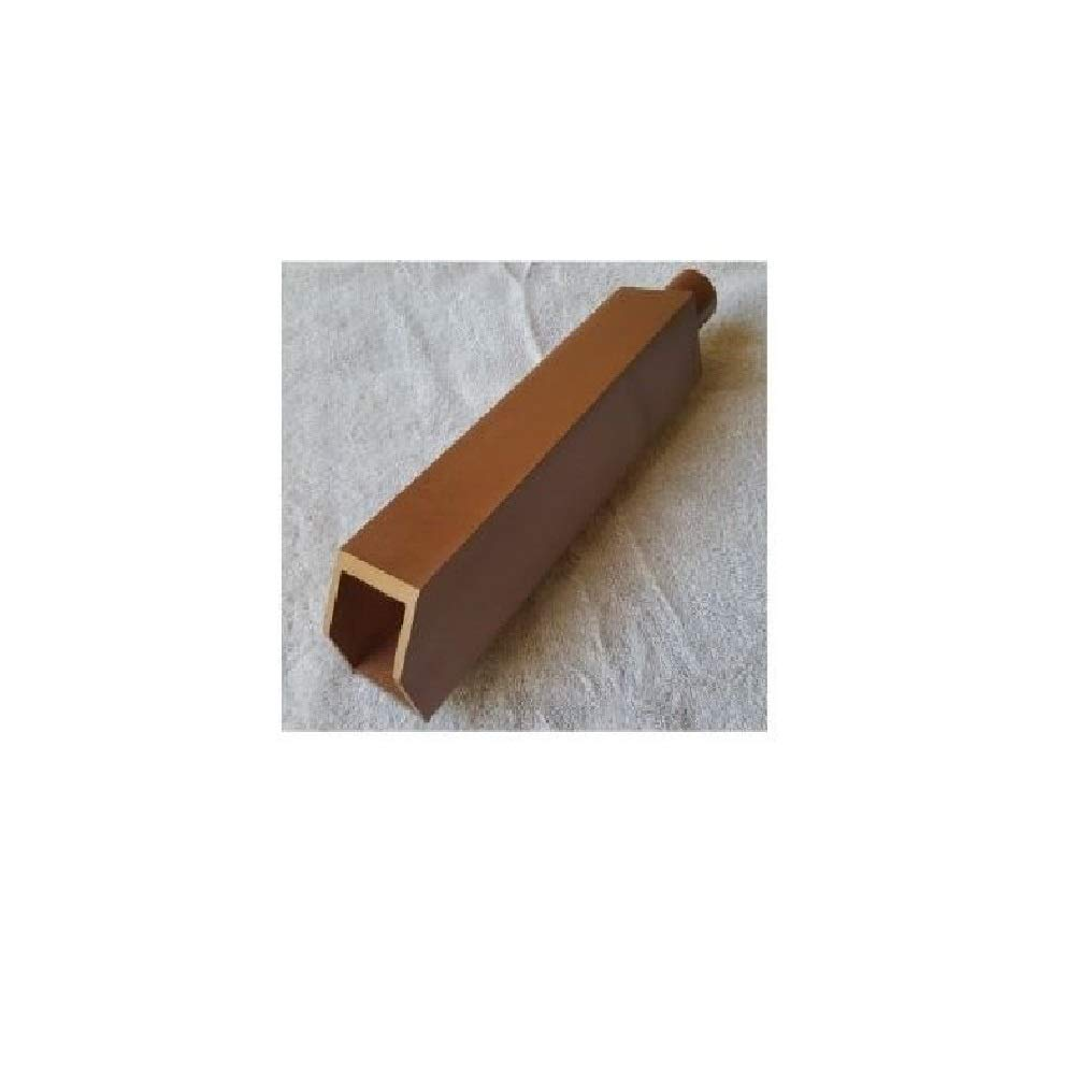 Water Scupper for Inground Pool Waterfall 2.5''x2.5''x12'' 1'' PVC Inlet (Copper)