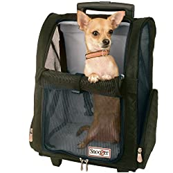 Snoozer Roll Around 4-in-1 Pet Carrier, Black, Medium