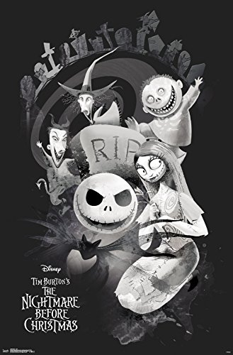 Trends International Wall Poster The Nightmare Before Christmas RIP, 22.375