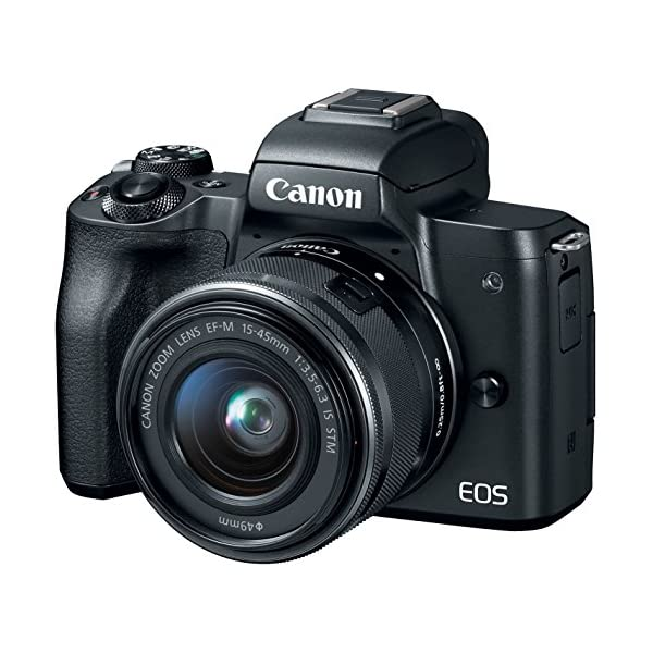 51r1YbUWUmL. SS600  - Canon EOS M50 Mirrorless Vlogging Camera Kit with EF-M 15-45mm Lens, Black