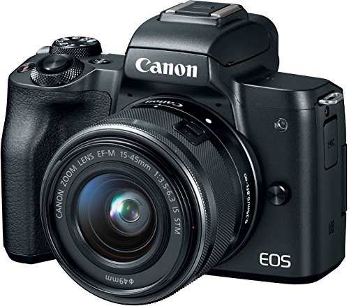 (Canon EOS M50 Mirrorless Camera Kit w/EF-M15-45mm and 4K Video - Black)