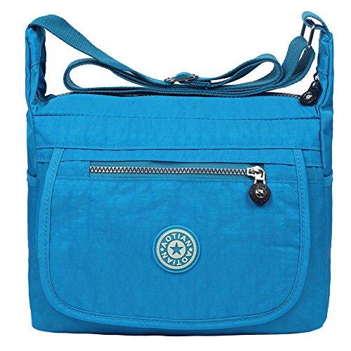EGOGO Nylon E303 Messenger Bag Resistant Shoulder Blue Bag Handbag Cross 6 Casual Water Body rpaqwr
