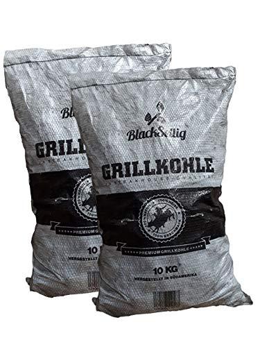 BlackSellig 20 kg Steakhousekohle Gastrosack – perfekte Profiqualität