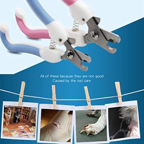 Límite-MX Pet Grooming Scissors,Cortaúñas y reCortador de uñas para mascotas, Tijeras de uñas para mascotas Paw acicalado podadoras con protector de seguridad para evitar el exceso de corte para cachorro perrito gatito (Rosa) 4