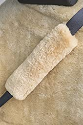Sheepskin Seat Belt Cover, GOBI TAN, Size 1 SIZE