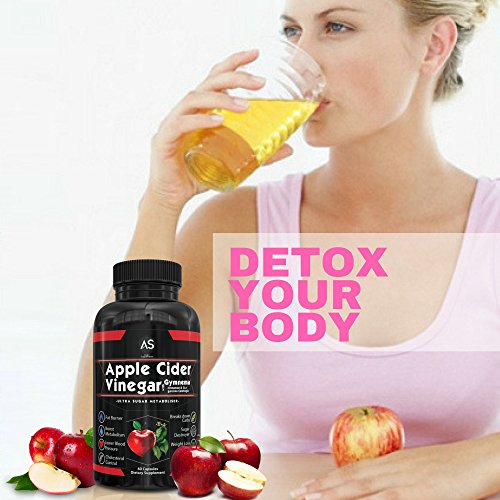 Apple Cider Vinegar Pills for Weightloss and Turmeric Curcumin [2 Pack Bundle] Natural Detox Remedy Includes Gymnema, Garcinia, & BioPerine for Complete Diet and Health Best Starter Kit or Gift.