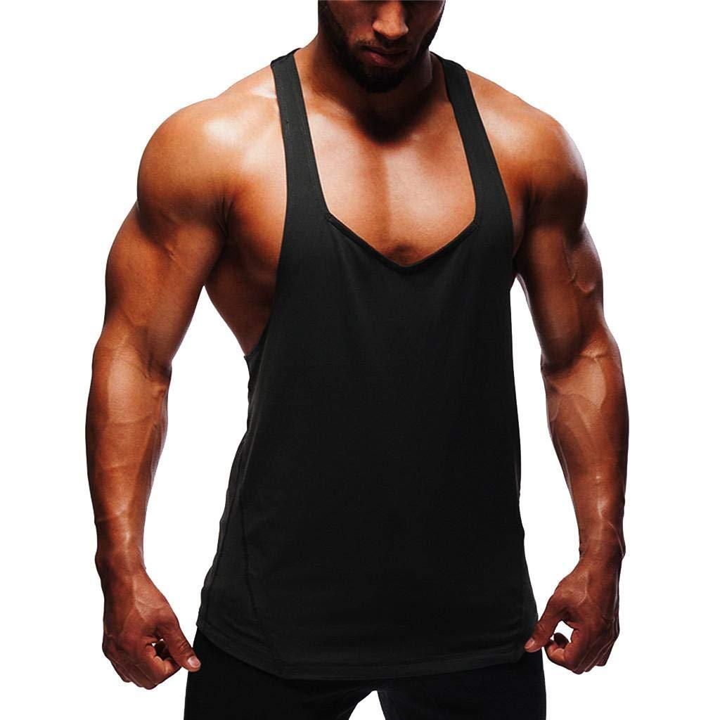 Camisetas Hombre Tirantes Gym SHOBDW 2019 Nuevo C/ómodo Camisetas Sin Mangas Deporte Camisetas Tirantes Fitness Basicas Color S/ólido Blusa Rutina de Ejercicio Tank Tops