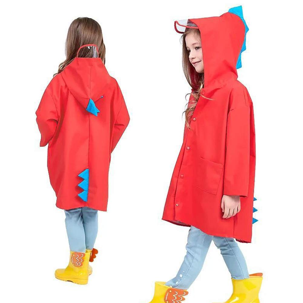 Tname Kids Impermeabile Bambini Pioggia Giacca Impermeabile Pioggia Poncho Pioggia Mantello Pioggia Indossare Cute Unisex Storm Break Pioggia Slicker