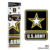 best army wall decals UNITED STATES ARMY DECALS - 5 Piece Officially Licensed Military Decor Stickers for Walls and Rooms - Large Military Decals from 6 to 15 Inches - US Military Decals Look Great On Walls