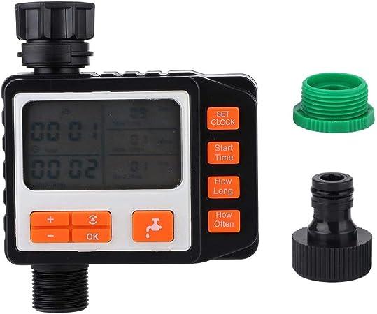 Fdit Temporizador de riego Temporizador de riego de jardín electrónico Controlador de riego de riego automático Pantalla LCD: Amazon.es: Hogar