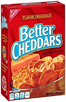 Nabisco, Better Cheddars, Cheese Crackers, 6.5oz Box (Pack of 3)
