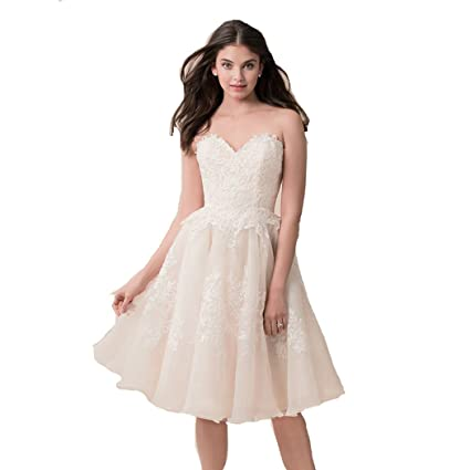 57ef2373243 Amazon.com  ZXCVBNM YIPEISHA Sweetheart Sleeveless Beaded Corset Bodice  Classic Lace Wedding Dress NZ001 (6)  Toys   Games