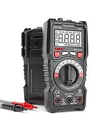 AIRIC - Multímetro digital de 6000 contadores de alcance automático con voltímetro AC DC con voltaje, corriente CA, Amp, Voltio, Ohm, diodo y comprobador de resistencia