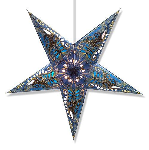 Filigree-Blue-Star-Lantern