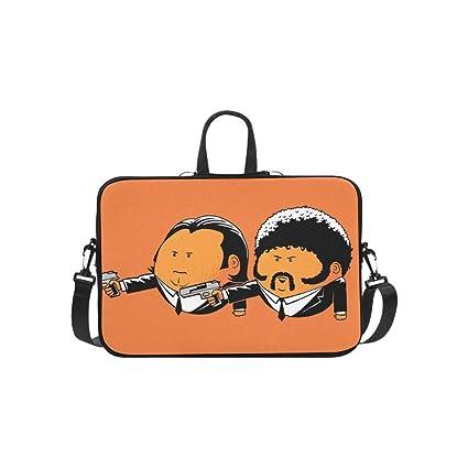 6e348952378 Pulp Fiction John Travolta Vincent Vega Samuel L J Pattern Briefcase Laptop  Bag Messenger Shoulder Work Bag