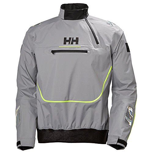 (Helly Hansen Mens Sailing HP Foil Durable Water Repellant Smock Top, Silver Grey, 2X-Large )