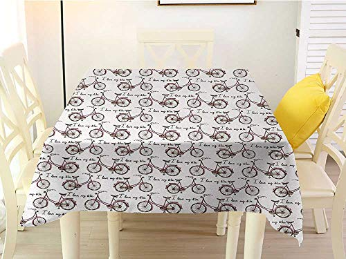 Outdoor Round Tablecloth Square Bicycle Vintage Beach Bicycle