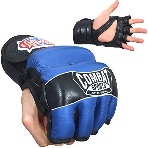 Combat Sports MMA Hybrid Fight Gloves - Wrap Sports Mma Combat Hand