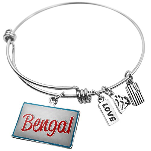 NEONBLOND Expandable Wire Bangle Bracelet Bengal, Cat Breed United States