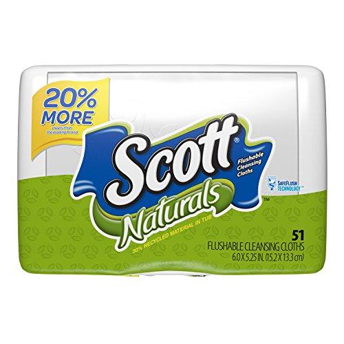 Scott Natural Moist Wipe Tub, 51 ct Moist Toilet Wipes
