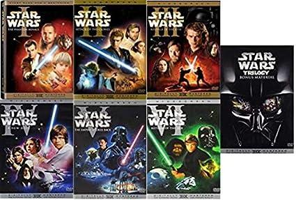 Amazon Com Star Wars The Complete Saga 10 Dvd Collection 6 Film Set Bonus Material I Ii Iii Iv V Vi Liam Neeson Ewan Mcgregor Natalie Portman Mark Hamill Harrison Ford George Lucas Movies Tv