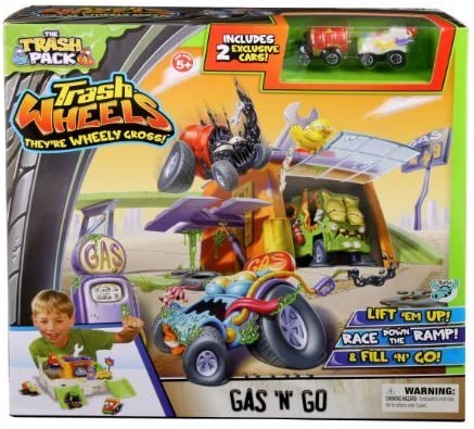 Trash Pack Wheels Gas N Go Playset by Trash Pack [Toy]: Amazon ...