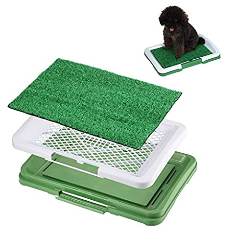 Training Pee Grass Puppy Potty Odor Resistant Mat Antimicrobial Pad Toilet Pet - Choke Horn