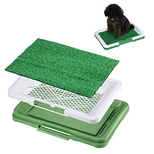 Training Pee Grass Puppy Potty Odor Resistant Mat Antimicrobial Pad Toilet Pet