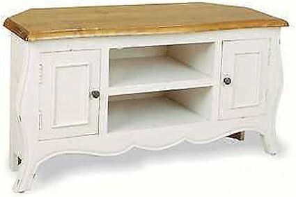 Babette Meuble Tv D Angle Blanc Antique Amazon Fr Cuisine Maison