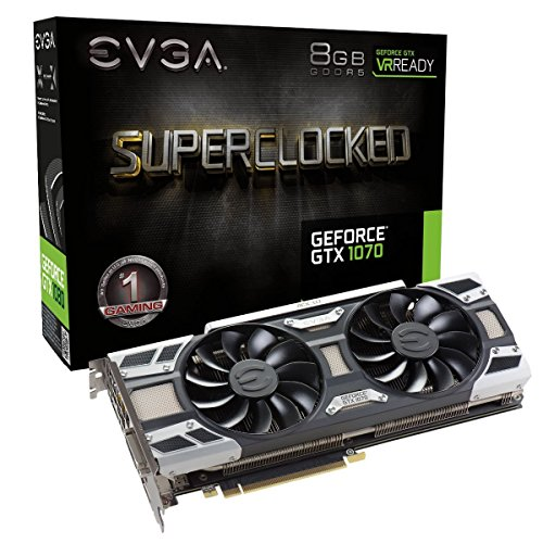 EVGA GeForce GTX 1070 SC GAMING ACX 3.0, 8GB GDDR5, LED, DX12 OSD Support (PXOC) Graphics Card 08G-P4-6173-KR (Renewed) (Gtx 1070 Sc Gaming Acx 3-0 Black Edition)