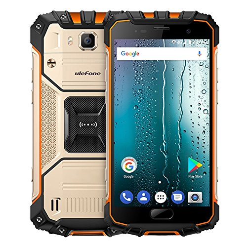 Ulefone Armor 2S Triple Proofing Phone 2GB+16GB 5.0 inch Sharp Android 7.0 MTK6737T Quad Core 64-bit up to 1.5GHz WCDMA & GSM & FDD-LTE (Gold)