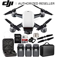 DJI Spark Portable Mini Drone Quadcopter Ultimate Portable Bag Shoulder Travel Case Bundle (Alpine White)