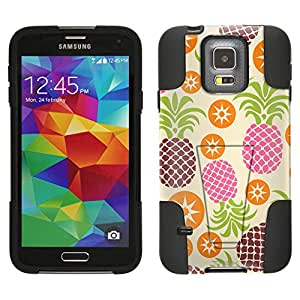 Samsung Galaxy S5 Hybrid Case Cute Pineapples and Starts 2 Piece Style Silicone Case Cover with Stand for Samsung Galaxy S5