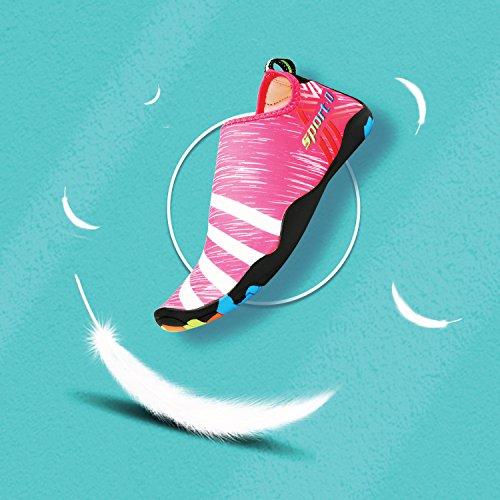 Bigcount Ciabatte Scarpe Da Ginnastica Estate Asciugatura Rapida Nuotata Yoga Aerobica Beach Pool Bambino Donna Uomo Unisex Rosso