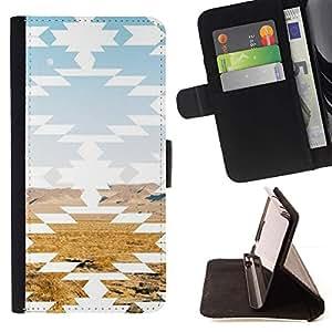 Momo Phone Case / Flip Funda de Cuero Case Cover - Paisaje del desierto Arte Rocas - Sony Xperia Z2 D6502