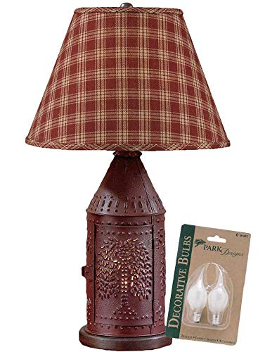 Light 6 Sturbridge (Park Designs Red Willow Punched Revere Lamp with Wine Sturbridge 12